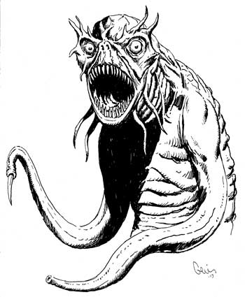 Earl Geier Horror Sea Monster