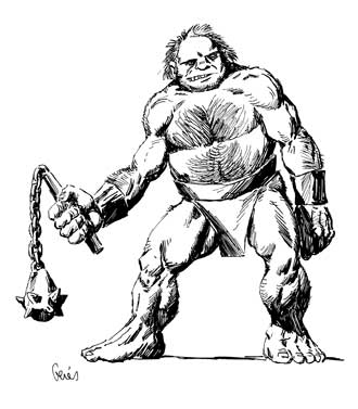 Earl Geier Presents Ogre with Flail