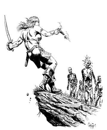Earl Geier Pirate versus Zombie