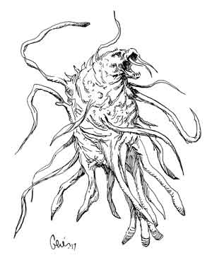 Earl Geier Tentacled Sea Monster