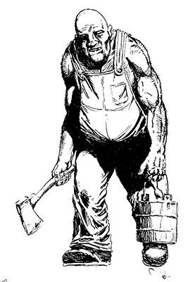 Earl Geier Axe Man