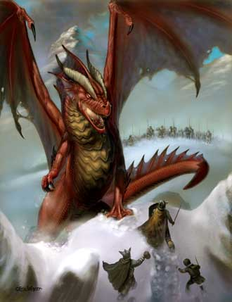 Eric Lofgren Dragon Attack in the Snow