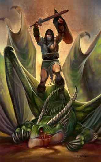 Eric Lofgren Triumphant Dragonslayer