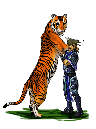 Christina Stiles Tiger Hairball by Jacob Blackmon