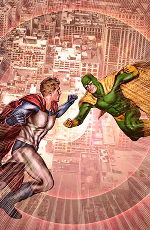 Jason Moser Presents a Super-Hero Battle in the Sky