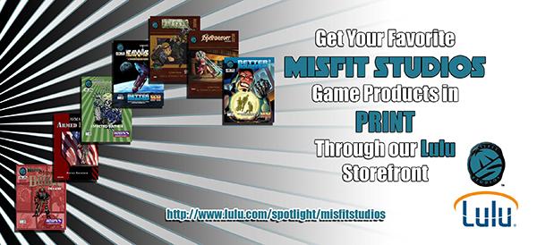 Misfit Studios Print Products via Lulu
