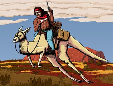 Ryan Sumo Kangaroo Cowboy
