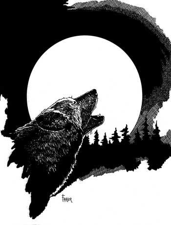 W Fraser Sandercombe Full Moon Wolf
